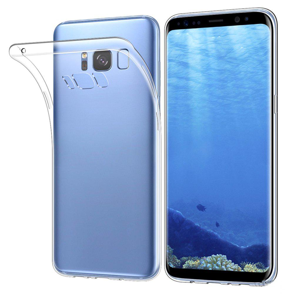 Transparent Clear Protective Case for Samsung Galaxy S8HOME<br><br>Color: TRANSPARENT;