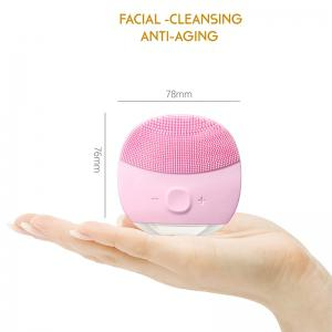 Silicone Gel Face Vibrating Massager Waterproof Charging Beauty Face Care Cleaner Cleaning Machine Facial Massagetools -