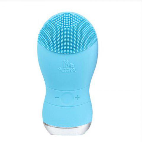 Outfit Silicone Gel Face Vibrating Massager Waterproof Charging Beauty Face Care Cleaner Cleaning Machine Facial Massagetools Bm001 - BLUEBELL  Mobile
