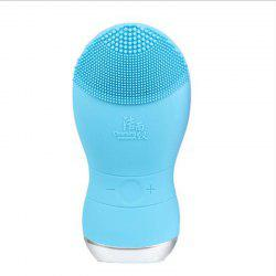 Silicone Gel Face Vibrating Massager Waterproof Charging Beauty Face Care Cleaner Cleaning Machine Facial Massagetools Bm001 - BLUEBELL