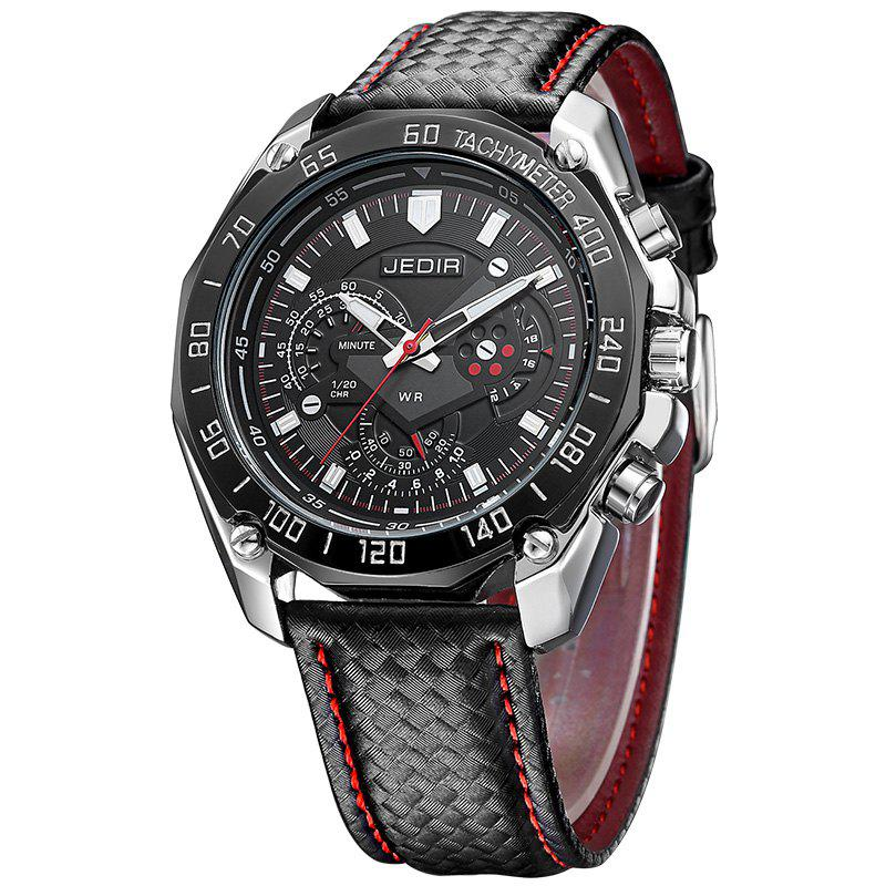 Jedir 1007G 5308 Leisure Luminous Needle Men WatchJEWELRY<br><br>Color: BLACK; Brand: JEDIR; Watches categories: Men; Watch style: Business,Casual,Fashion,Trends in outdoor sports;