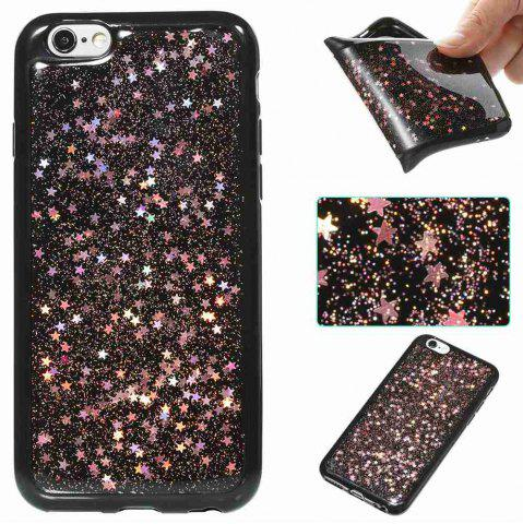 Trendy Black Five-Pointed Star Painted Tpu Phone Case for Iphone 6 /6s