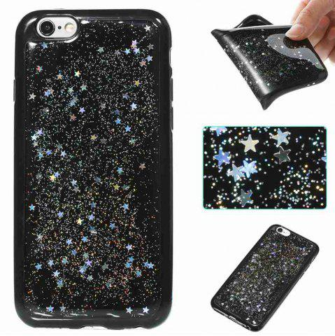 Latest Black Five-Pointed Star Painted Tpu Phone Case for Iphone 6 /6s