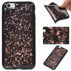 Black Five-Pointed Star Painted Tpu Phone Case for Iphone 6 /6s -