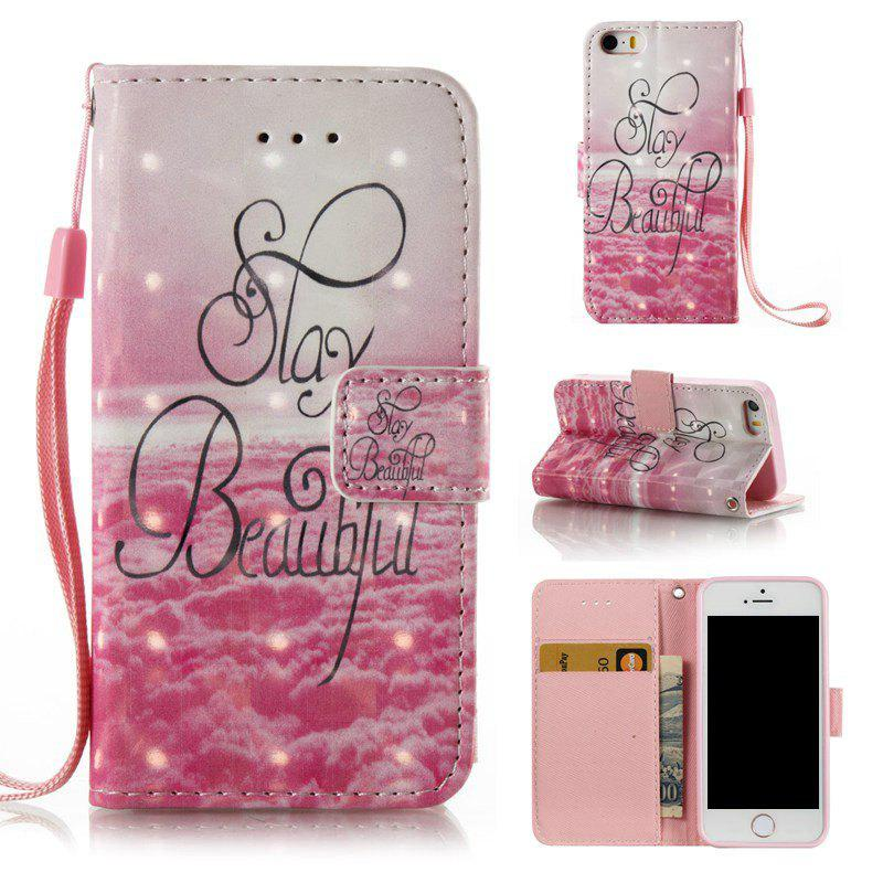 Outfits 3D Painted Pu Phone Case for Iphone 5 / 5S / Se