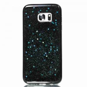 Black Five-Pointed Star Painted Tpu Phone Case for Samsung Galaxy S7 Edge -