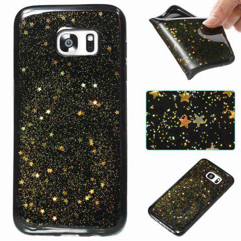 Latest Black Five-Pointed Star Painted Tpu Phone Case for Samsung Galaxy S7 Edge