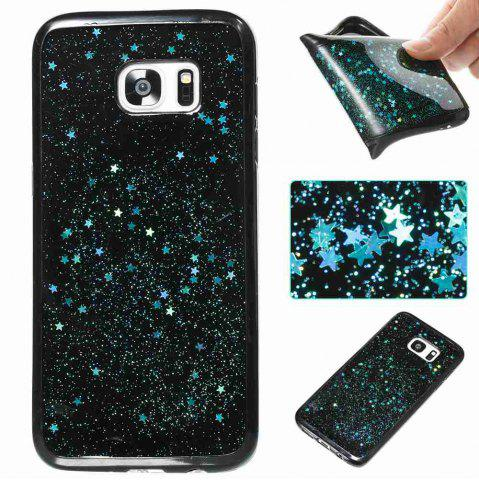 New Black Five-Pointed Star Painted Tpu Phone Case for Samsung Galaxy S7 Edge