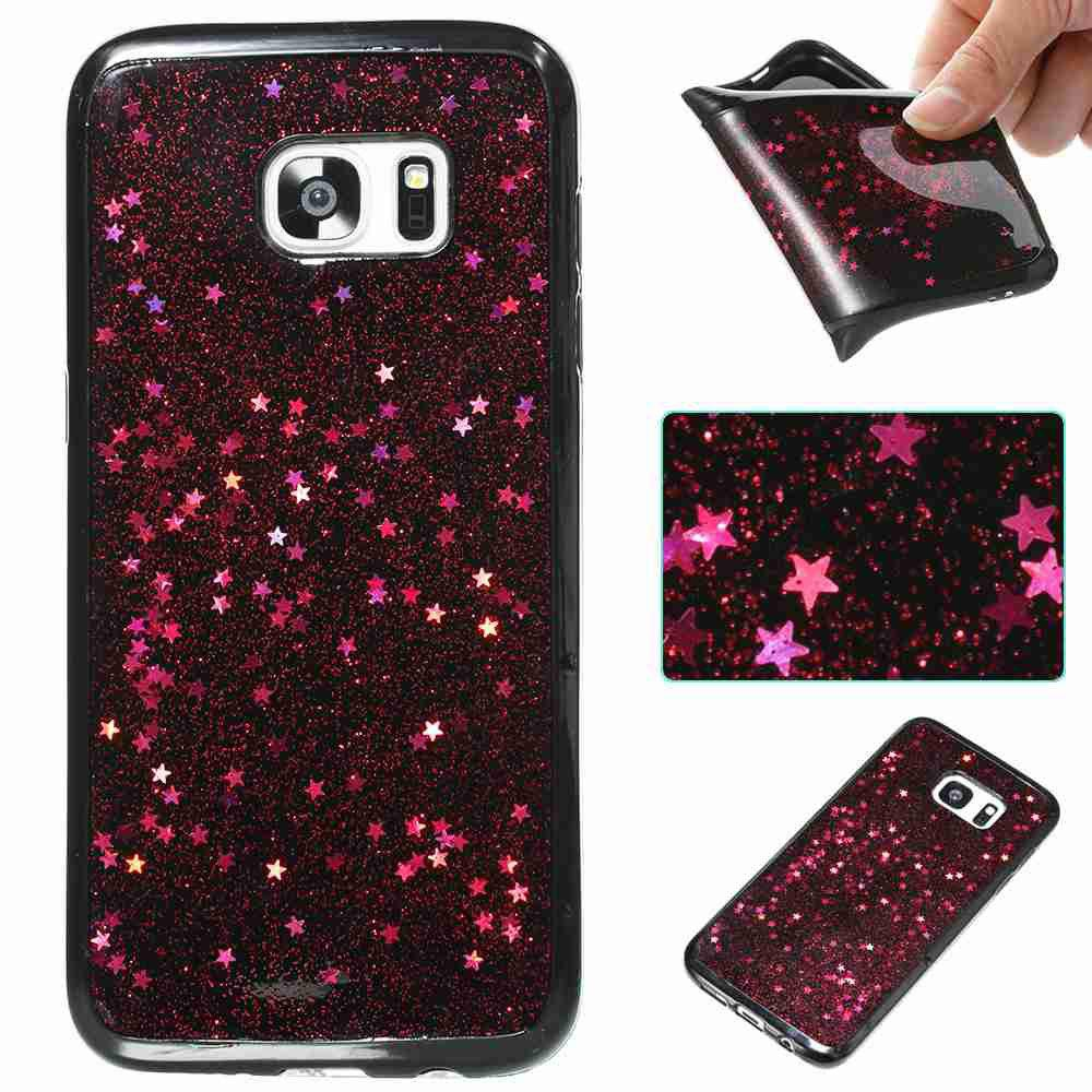 Outfit Black Five-Pointed Star Painted Tpu Phone Case for Samsung Galaxy S7 Edge