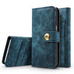 Wkae Retro Style Detachable Magnetic Leather Case Cover with Large Capity Card Cash Slots Secure Rivet Buckle for Iphone 7 / 8 -