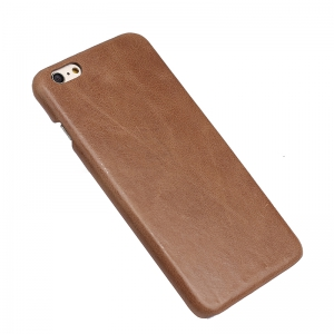 Retro Style Cow Leather Hard Back Case Pour iPhone 7 -
