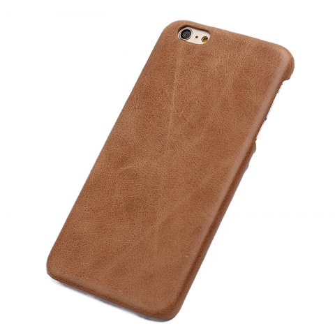 Affordable Retro Style Cow Leather Hard Back Case for iPhone 7