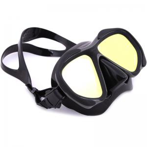Whale Professional Anti-Fog Color Mirror Silicone Snorkeling Diving Mask Mm-2600 - BLACK