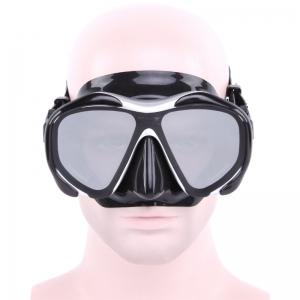 Whale Professional Anti-Fog Color Mirror Silicone Snorkeling Diving Mask Mm-2600 - GRAY