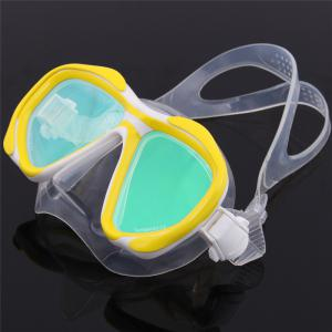 Whale Professional Anti-Fog Color Mirror Silicone Snorkeling Diving Mask Mm-2600 - YELLOW