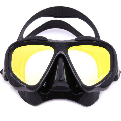 Unique Whale Professional Anti-Fog Color Mirror Silicone Snorkeling Diving Mask Mm-2600 BLACK