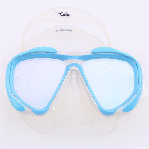 Shop Whale Professional Anti-Fog Color Mirror Silicone Snorkeling Diving Mask Mm-2600 - LIGHT BULE  Mobile