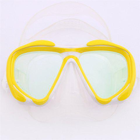 Best Whale Professional Anti-Fog Color Mirror Silicone Snorkeling Diving Mask Mm-2600 YELLOW