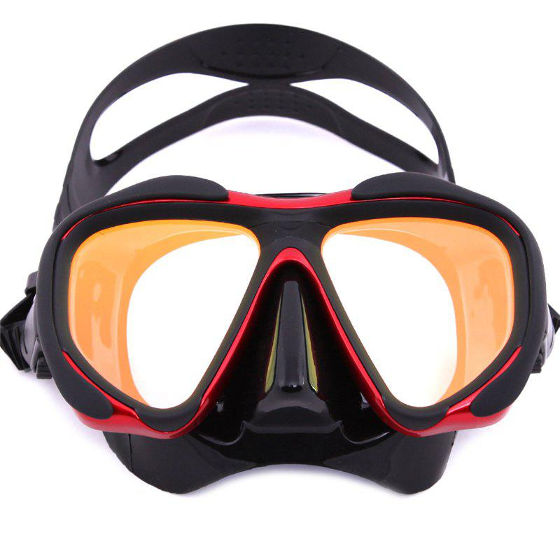 Fancy Whale Professional Anti-Fog Color Mirror Silicone Snorkeling Diving Mask Mm-2600