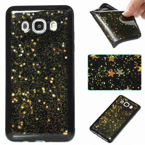 Cheap Black Five-Pointed Star Painted Tpu Phone Case for Samsung Galaxy J510 / J5 2016