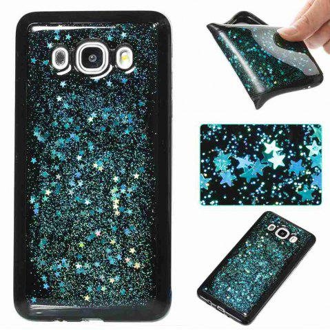 Shop Black Five-Pointed Star Painted Tpu Phone Case for Samsung Galaxy J510 / J5 2016