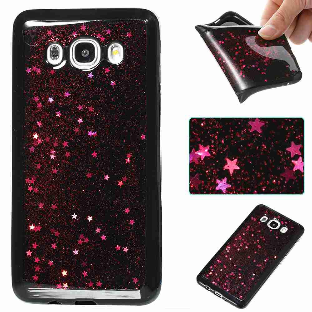 Sale Black Five-Pointed Star Painted Tpu Phone Case for Samsung Galaxy J510 / J5 2016