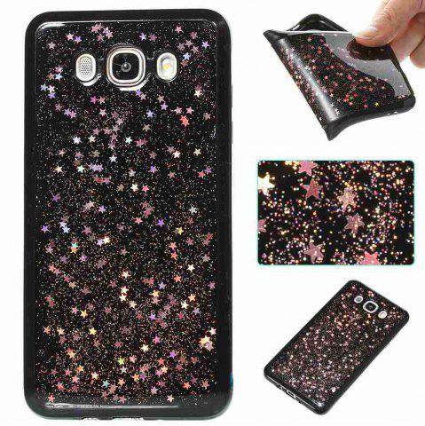 Outfits Black Five-Pointed Star Painted Tpu Phone Case for Samsung Galaxy J710 /J7 2016