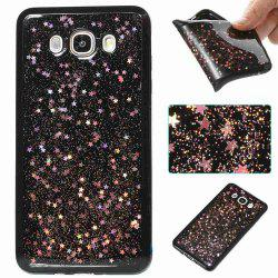 Black Five-Pointed Star Painted Tpu Phone Case for Samsung Galaxy J710 /J7 2016 -