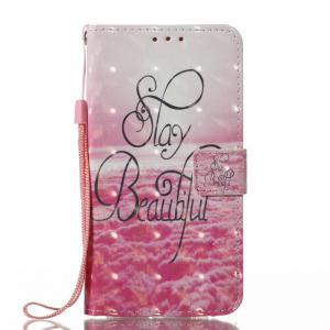 3D Painted Pu Phone Case for Samsung Galaxy J330 -