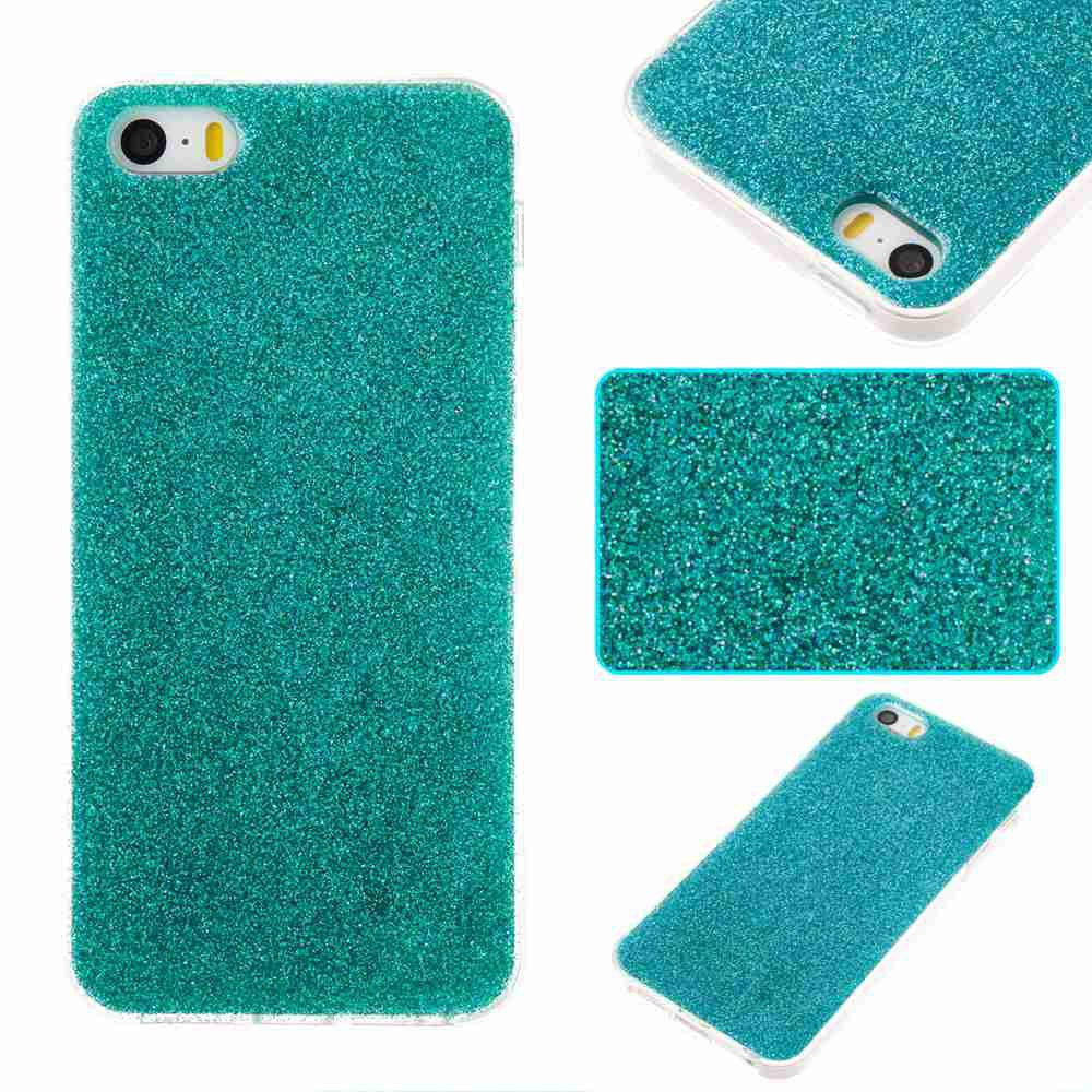 Outfit Flash Powder Painted Tpu Phone Case for Iphone 5 / 5S / 5C / 5E