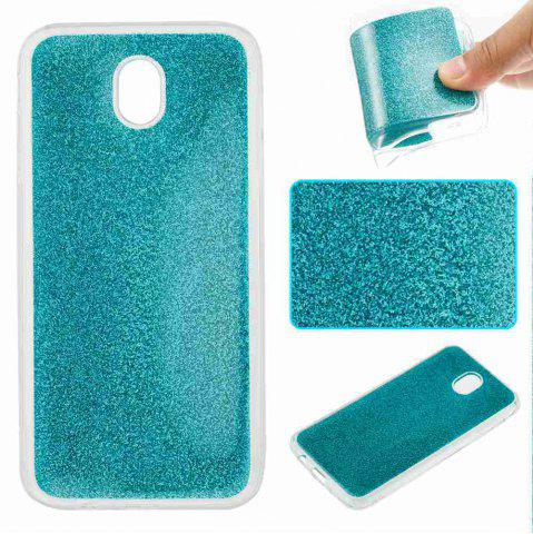 Outfits Flash Powder Painted Tpu Phone Case for Samsung Galaxy J730
