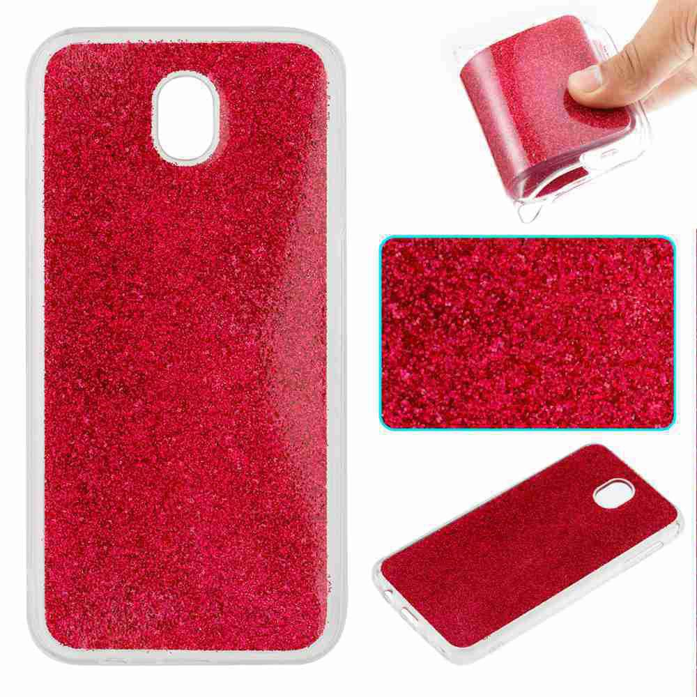 Latest Flash Powder Painted Tpu Phone Case for Samsung Galaxy J730
