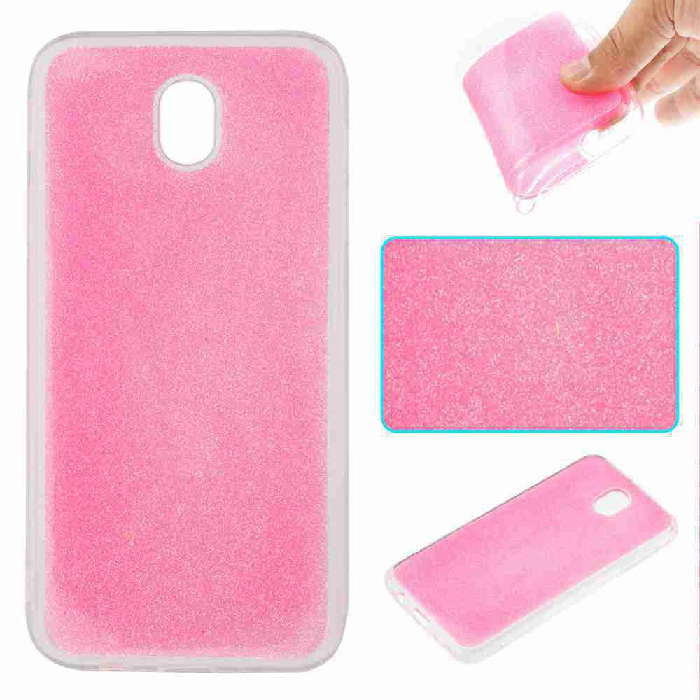 Unique Flash Powder Painted Tpu Phone Case for Samsung Galaxy J730