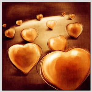 Hua Tuo Love Heart Oil Painting Size 60 x 60CM Ht - 157019 -