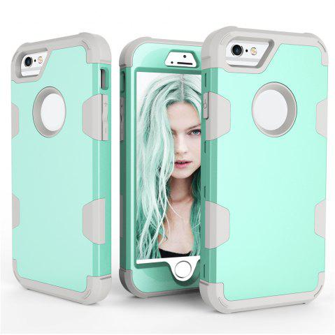 Anti Slip Hybrid Heavy Duty Shockproof Case with Dual Layer  Hard Pc  Soft Silicone  Impact Protection for Iphone 6   6S