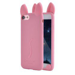 Fashion Cute 3D Cat Ears Soft Rubber Silicone Case Cover Skin for iPhone 6 Plus / 6S Plus -