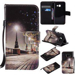 New Painted Pu Phone Case for Samsung Galaxy A3 2017 -