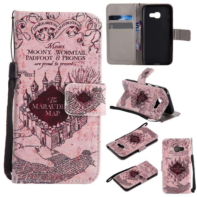 Unique New Painted Pu Phone Case for Samsung Galaxy A3 2017