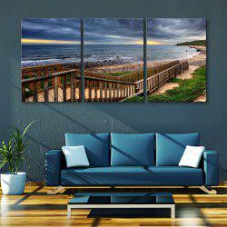 Yc Special Design Frameless Paintings Boardwalk Along The Coast of 3 -