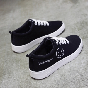 Ladies Casual Shoes Female Canvas Shoes - WHITE 38