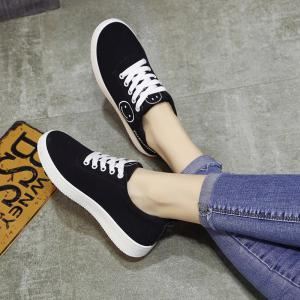 Ladies Casual Shoes Female Canvas Shoes - BLUE 39