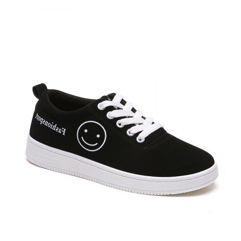 Trendy Ladies Casual Shoes Female Canvas Shoes WHITE 38