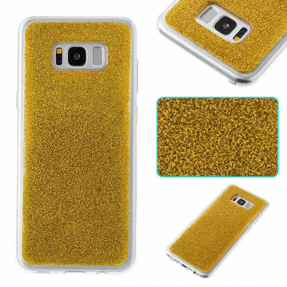 Cheap Flash Powder Painted Tpu Phone Case for Samsung Galaxy S8 Plus