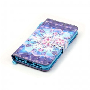 Crystal Flower 3D Painted Pu Phone Case for Iphone 8 / 7 -