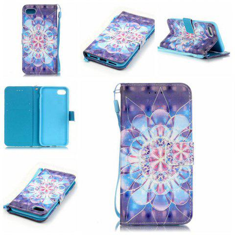 Fancy Crystal Flower 3D Painted Pu Phone Case for Iphone 8 / 7