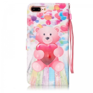 Balloon Bear 3D Painted Pu Phone Case for Iphone 8 Plus / 7 Plus -