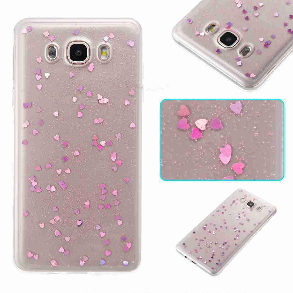 Shops Love Heart Dijiao Tpu Phone Case for Samsung Galaxy J710 / J7 2016