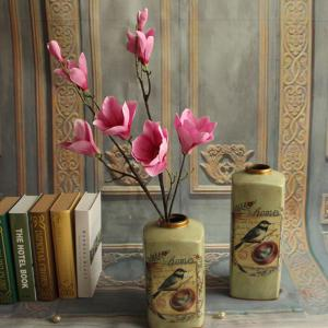 1 Branch European Style Magnolia Flower Home Decoration Artificial Flower -