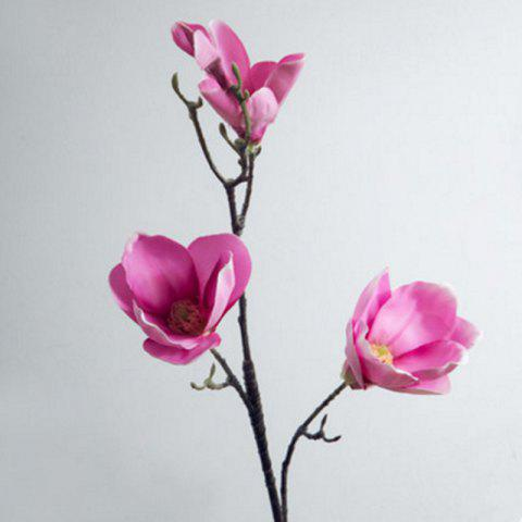 Sale 1 Branch European Style Magnolia Flower Home Decoration Artificial Flower ROSE RED