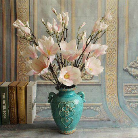 Chic 1 Branch European Style Magnolia Flower Home Decoration Artificial Flower